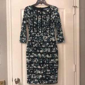 Antonio Melani Floral Fitted Dress